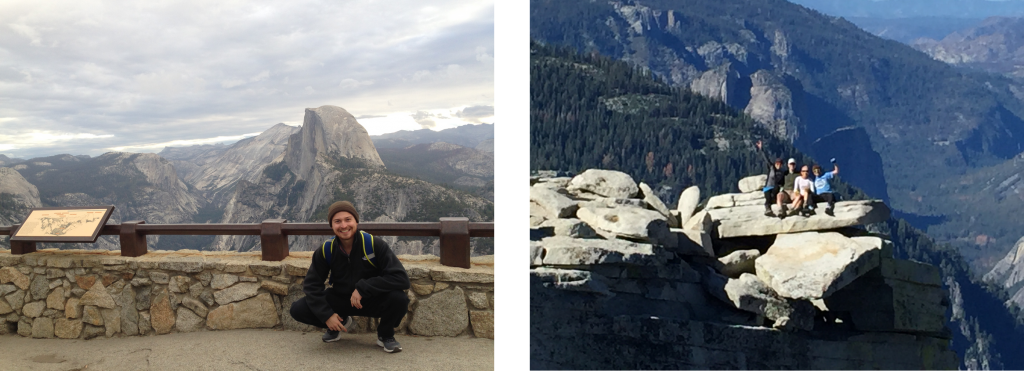 Half Dome side by side